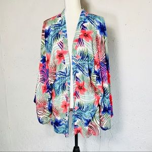 Style Envy Cover Up Kimono Multi Tropical Sz. S